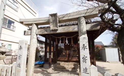 胡子神社・本殿・拝殿(被爆建物)