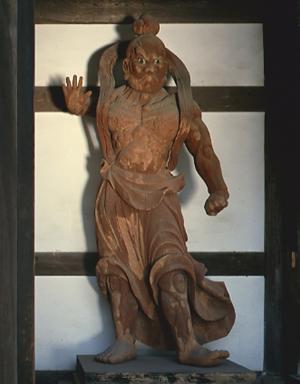 木造仁王立像(二躯)(県重要文化財)