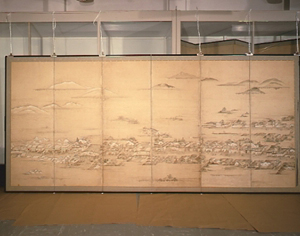 広島城下絵屏風