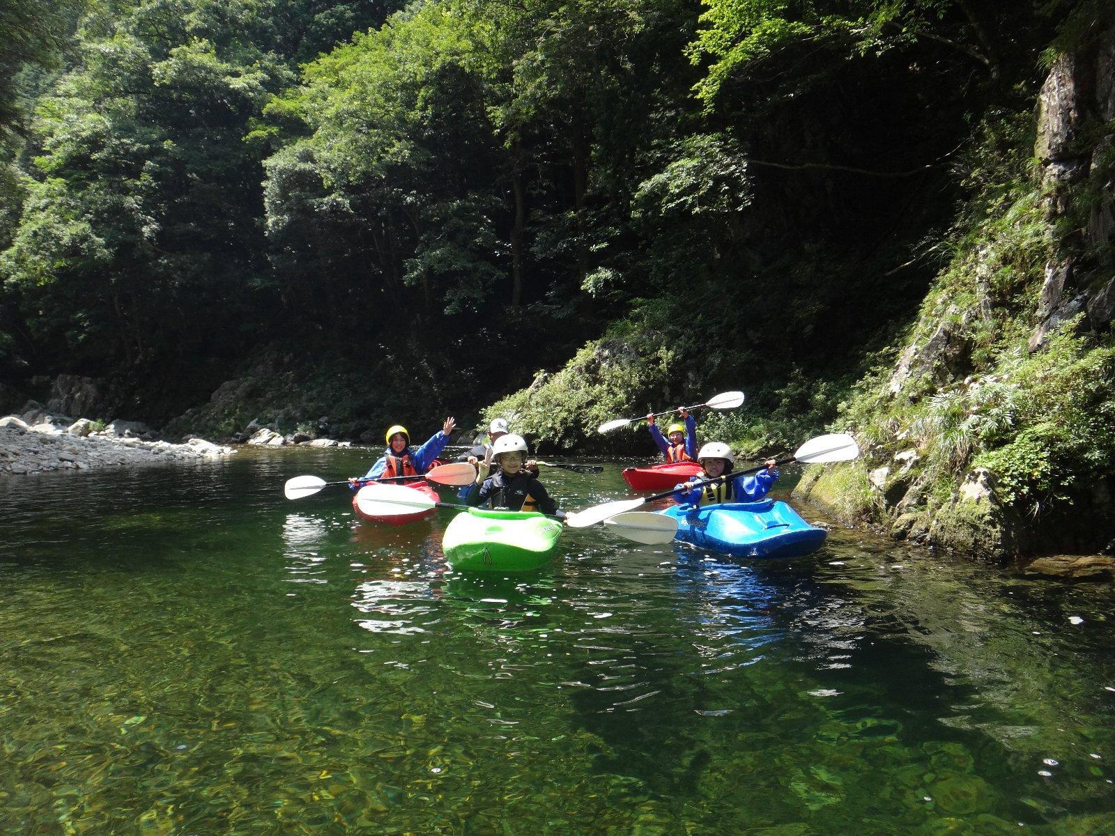 カヤック体験(安芸太田町 三段峡らぴっどカヤックスクール)