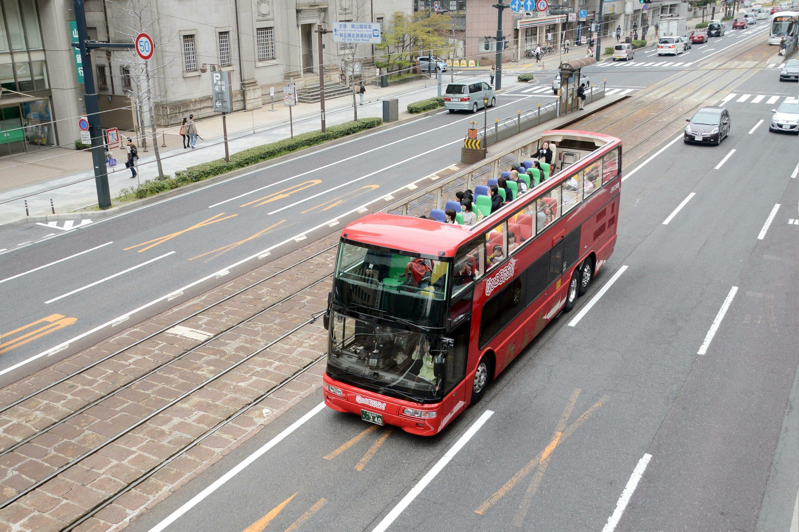 二階建てオープンバス「めいぷるスカイ」